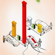 Measuring Consumption Editorial Illustration